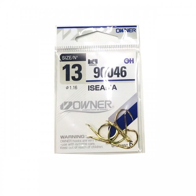 เบ็ดตูดแบน  Isama Gold #90046/13