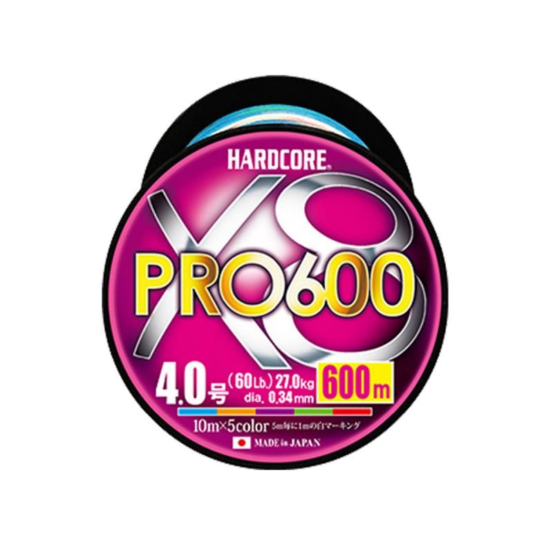 H3957-HARDCORE X8 PRO 600m #2.5 5COLOR