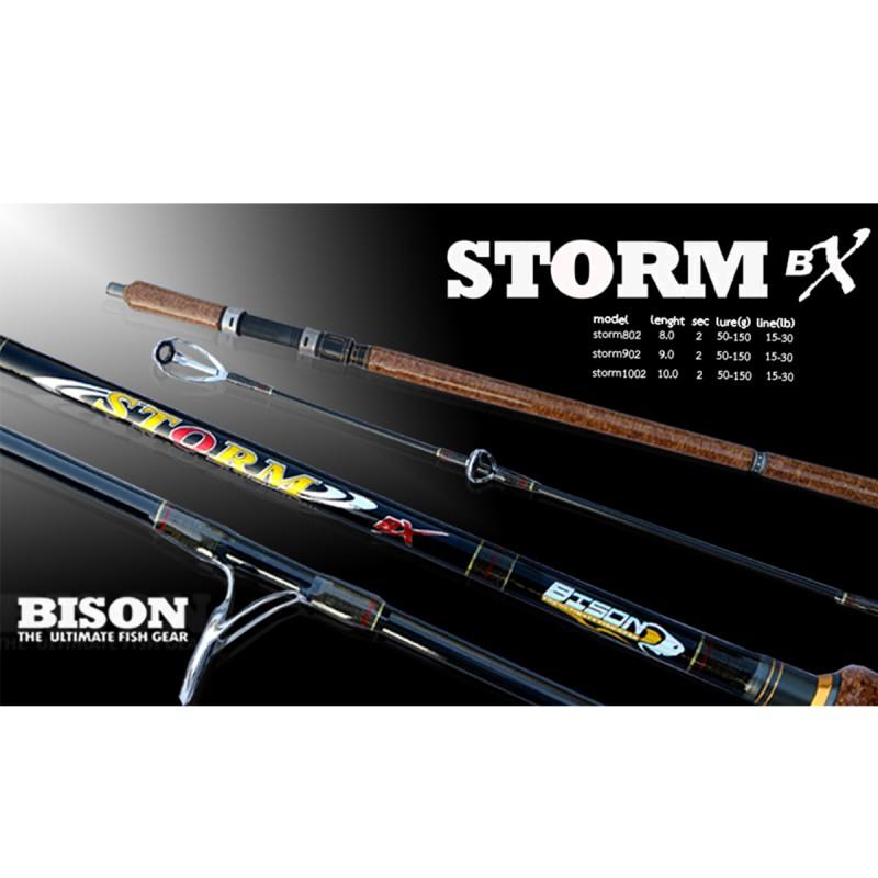 คันกราไฟท์ก๊อกเคลือบ BISON STORM 6'spin