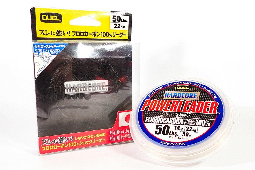Hardcore Powerleader Fluorocarbon100% 50m 50lbs